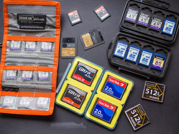 Memory cards are now very cheap. Develop a strategy for keeping them safe while working in the field.