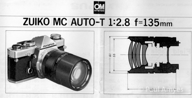 Olympus OM Zuiko 135mm f2.8